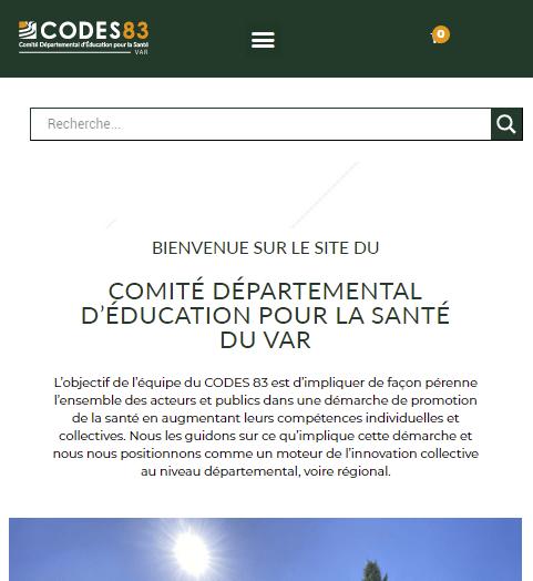 Screen nouveau site CODES